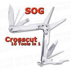 S O G SOG Crosscut Key Chain Scissors Multi Tool CC51
