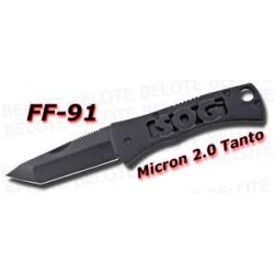 S O G SOG Micron 2 0 Tanto Pocket Knife Plain FF91 CP