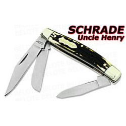 Schrade Uncle Henry Rancher 3 Blade Staglon Knife 834UH