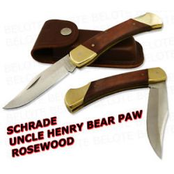 Schrade Uncle Henry Rosewood Bear Paw w Sheath LB7 New