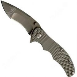 Schrade Frame Lock Folder Drop Point re Curve Blade Textured Titanium SCH601TI