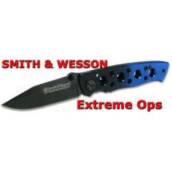 Smith Wesson Extreme Ops Black Blue Folder CK111