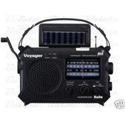 Kaito KA500 Voyager Am FM SW Weather Solar Radio Light
