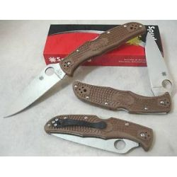 Spyderco Brown Endura Flat Ground Plain Knife C10FPBN