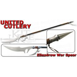 "United Cutlery Kit Rae 71"" Ellexdrow War Spear w Custom Art Print KR0050 New"