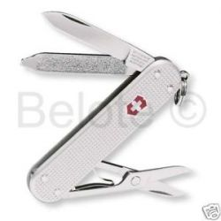 Victorinox Swiss Army Classic Silver Alox Ribbed 53012