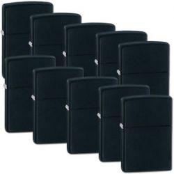 Zippo Lot Set of 10 Lighter Black Matte Lighters Model 218 New in Box