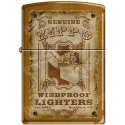 Zippo Genuine Zippo Vintage Windproof Lighter Bradford PA Poster Toffee New RARE
