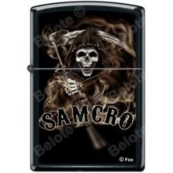 Zippo SOA Sons of Anarchy SAMCRO Reaper Black Matte Windproof Lighter RARE