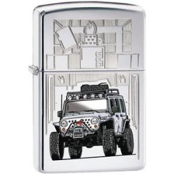 Zippo Car Jeep Wrangler High Polish Chrome Windproof Lighter 28508 New L K