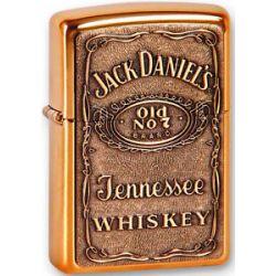 Zippo Jack Daniel's Brass Emblem Lighter 254BJD 428 New
