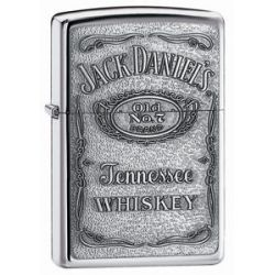 Zippo Jack Daniel's Pewter Emblem Lighter 250JD 427 New
