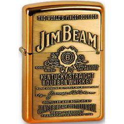 Zippo Jim Beam Brass Emblem Lighter 254BJB 929 New