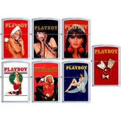 Zippo Playboy Cover Lighter All December Set 7 Lighters Xmas Gift New L K