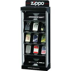 Zippo 15 Piece Lockable Counter Top Display Brand New in Box No Lighters 142707