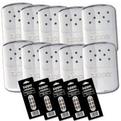 Zippo Lot Set of 10 Chrome Refillable Deluxe Hand Warmer 5 Burners 40306 44003
