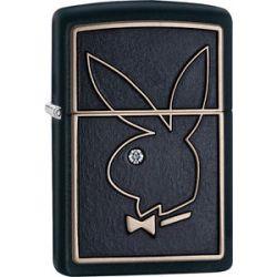 Zippo Choice Playboy Emblem with Crystal Black Matt Windproof Lighter 28816