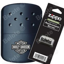 Zippo Harley Davidson Black Hand Warmer Pouch Additional Burner 40319 44003