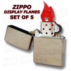 Zippo Plastic Display Flame Set of 5 Flames PDF 09 New