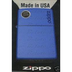 Zippo Royal Blue Matte Lighter w Zippo Logo 229ZL New