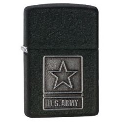 Zippo New 2014 Choice Catalog U s Army Pewter Emblem Black Crackle 28583