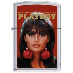 Zippo Playboy December 1966 Cover Satin Chrome Windproof Lighter New RARE