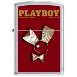 Zippo Playboy December 1980 Cover Satin Chrome Windproof Lighter New RARE