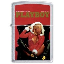 Zippo Playboy December 1977 Cover Satin Chrome Windproof Lighter New RARE