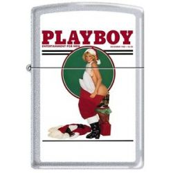Zippo Playboy December 1982 Cover Satin Chrome Windproof Lighter New RARE