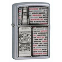 Zippo Choice Jim Beam Dimensional Pewter Bottle Windproof Lighter 28344