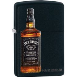Zippo Jack Daniels Old No 7 Tennessee Sour Mash Whiskey Lighter Black 28422