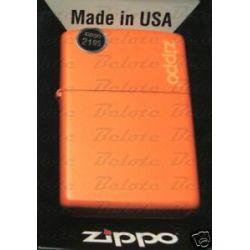 Zippo Orange Matte Lighter w Zippo Logo 231ZL New