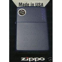 Zippo Navy Matte Lighter w Zippo Logo 239ZL New in Box