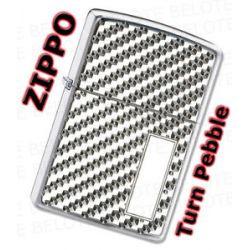 Zippo Engraved Turn Pebble Windproof Lighter 28185 New