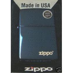 Zippo Sapphire Lighter w Zippo Logo 20446ZL New in Box
