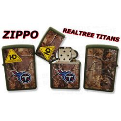 Zippo NFL Tennessee Titans Realtree Lighter 28117 New