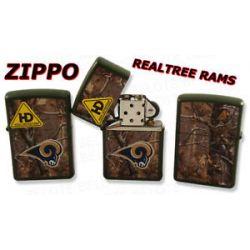 Zippo NFL St Louis Rams HD Realtree Lighter 28109 New