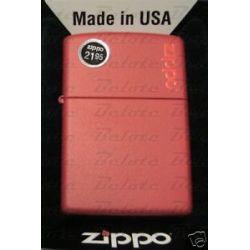 Zippo Red Matte Lighter w Zippo Logo 233ZL New in Box