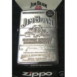 Zippo Jim Beam Pewter Emblem Chrome Lighter 250JB 928