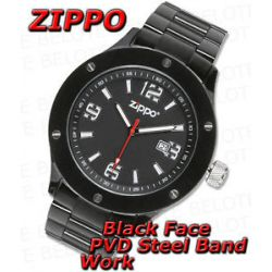 Zippo Black Face PVD Stainless Band Work Watch 45007