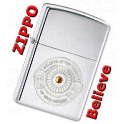 Zippo Swarovski Crystal Believe Chrome Lighter 28183