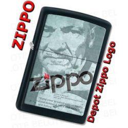 Zippo Depot Zippo Logo Black Matte Windproof Lighter 28300 New