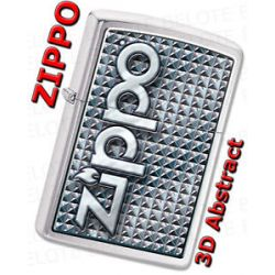Zippo 3D Abstract 1 Brushed Chrome Windproof Lighter 28280 New