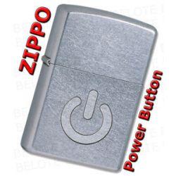 Zippo Power Button Street Chrome Windproof Lighter 28329 New
