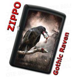 Zippo Gothic Raven Eyeball Licorice Matte Windproof Lighter 28319 New