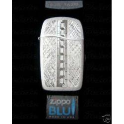 Zippo Blu Zipped Bead Blasted Butane Lighter 30030 New