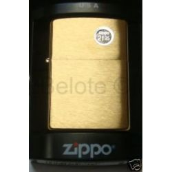 Zippo Brushed Brass Lighter w Solid Brass Engraved 204