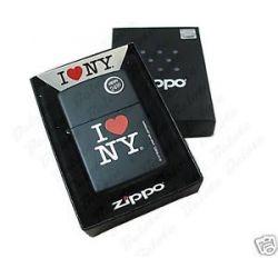Zippo I Love NY Black Matte Lighter Model 24798 New