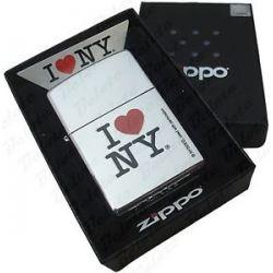 Zippo I Love NY High Polish Chrome Lighter 24799 New