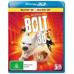 Bolt (3D BD/DVD) on DVD.